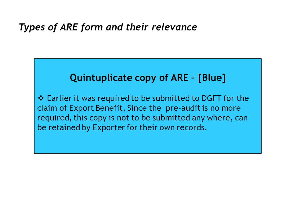Quintuplicate copy of ARE – [Blue]
